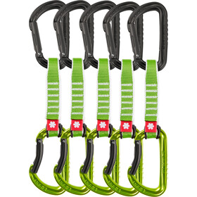 Ocun Falcon QD Zoom PA Cinta Express 15/22mm 12cm Pack de 5, green